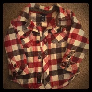 Baby Gap Boys 2T Flannel button down shirt